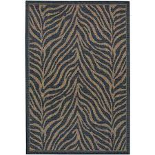 Taupe Zebra Rug Animal Print Outdoor Rugs Rugs The Home Depot