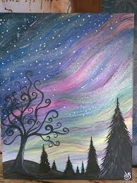 how to paint northern lights painting with shelby northern lights enchanted mountains of