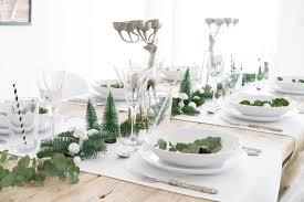 minimalistische tischdeko für weihnachten