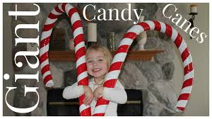 Large Christmas Decorations Props by How To Make Giant Candy Cane Decorations Youtube