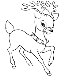 clipart reindeer coloring pages coloring