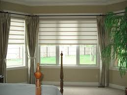 white wooden blinds for emmas dining room bay window web blinds