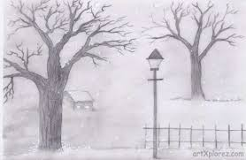 simple pencil sketches of landscapes drawing art u0026 skethes