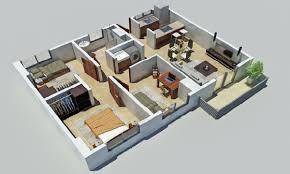 Design A House Floor Plan Plano 3d Casa Depto 3 Dormitorios Planos 3d Pinterest