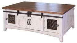 White Wash Coffee Table - rustic coffee table wood coffee table pine coffee table