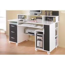 bureau avec rangement imprimante bureau multimedia sur roulettes tiroirs niche et porte maja möbel