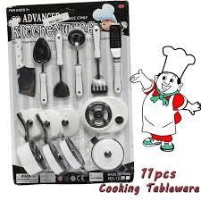 ustensile cuisine enfant 11 pcs ensemble enfants prétendu rôle jouer ustensile de cuisine