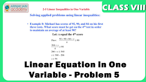 ideas of linear equations in one variable word problems worksheets