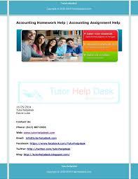 Homework help accounting   University assignments custom orders