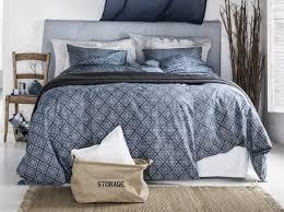 chambres bleues linge de lit bleu hm home chambre couette bleue