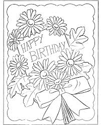 happy birthday coloring card birthday colouring page printable pencil and in color