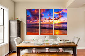 3 Piece Wall Art Colorful Huge Canvas Print Ocean Multi Panel