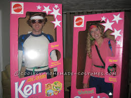 Barbie Doll Halloween Costumes Coolest Diy Barbie Ken Couple Costume Homemade Costumes