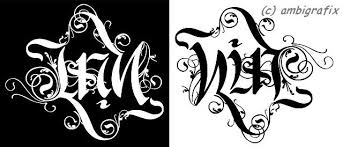 name ambigram ambigrafix