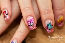 nail art butterfly one stroke more blogwiese de blog u2026 flickr