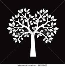 white tree white tree vector illustration stock vector 547232473
