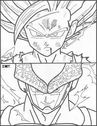 gohan ssj2 vs super perfect cell by cheygipe on deviantart