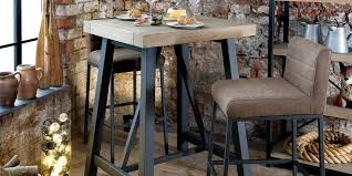 Reclaimed Wood Bar Table Industrial Furniture Reclaimed Tall Bar Table Set Modish Living