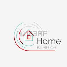 home design logo free thin line neat design logo clean modern concept home house