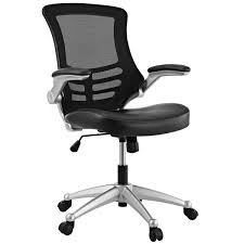 Black Mesh Office Chair Modway Attainment Black Mesh Back And Leatherette Seat Office
