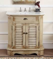 Beachy Bathroom Vanities by Adelina 32 Inch Cottage Bathroom Vanity White Marble Top