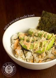 sriracha mayo sushi deconstructed spicy avocado sushi bowl the viet vegan