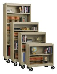 sandusky elite radius edge mobile bookcase 36