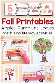 fall activities printable bundle