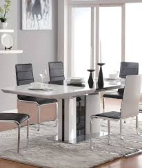 Dining Room Table Extendable by Cool Dining Room Set With White Black Gloss Extendable Dining