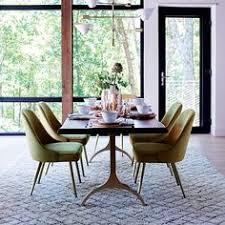 live edge table west elm west elm cast trestle dining chairs mid century modern