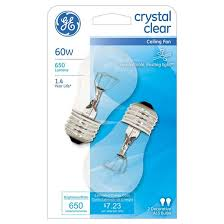 ge 60 watt ceiling fan cfl light bulb 2 pack soft white clear