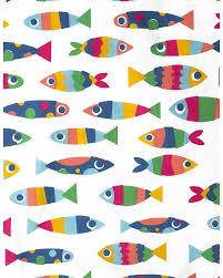 frugi reversible uk single bed set rainbow fish 135x200 cm