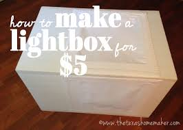 how to make a photo light box how to make lightbox