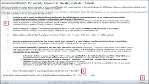 submit an outside interest disclosure