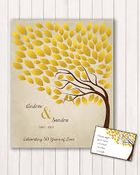 anniversary guest book 50th anniversary guest 16x20 sign in poster wedding