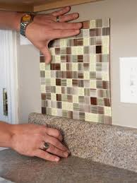 How To Install A Backsplash In A Kitchen How To Install Peel And Stick Backsplash Tile Kitchens Glass