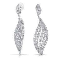 Cubic Zirconia Chandelier Earrings Blingmythings