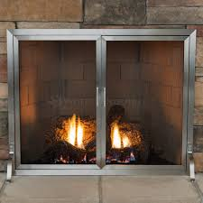 Fireplace Metal Screen by Lumino Stainless Steel Fireplace Screen With Doors