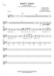 happy xmas war notes lyrics vocal backing