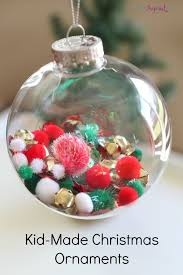 fill the kid made ornaments toddler