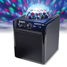 ion bluetooth speaker with lights ion audio party time bluetooth speaker system with disco ball colour