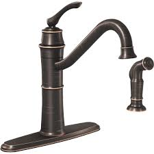 single lever kitchen faucet moen wetherly single handle kitchen faucet with side sprayer