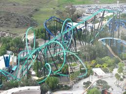 6 Flags Water Park Six Flags Magic Mountain U0027s U0027colossus U0027 Catches Fire Peak Collapses