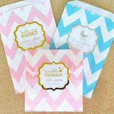 Baby Favors by Personalized Baby Shower Microwaveable Popcorn Bags