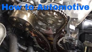how to set up the timing chain and cams on a toyota 2 4 l engine
