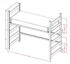 bunk beds twin bunk bed dimensions standard bunk bed height