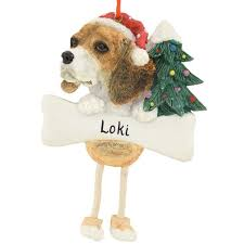 personalized beagle ornament with dangling legs bronner u0027s