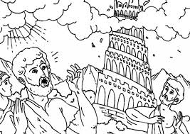 tower babel coloring 72 seasonal colouring pages