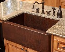 Copper Kitchen Sink by Country Kitchen Design With Farm Style Copper Kitchen Sinks