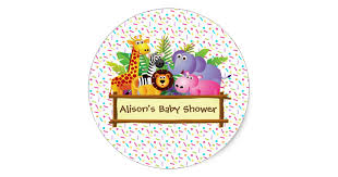 unisex baby shower unisex baby shower sprinkle jungle safari favor classic